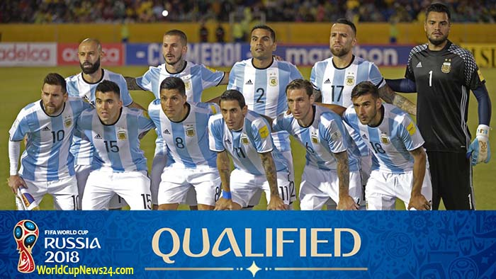 Argentina 2018 world cup players