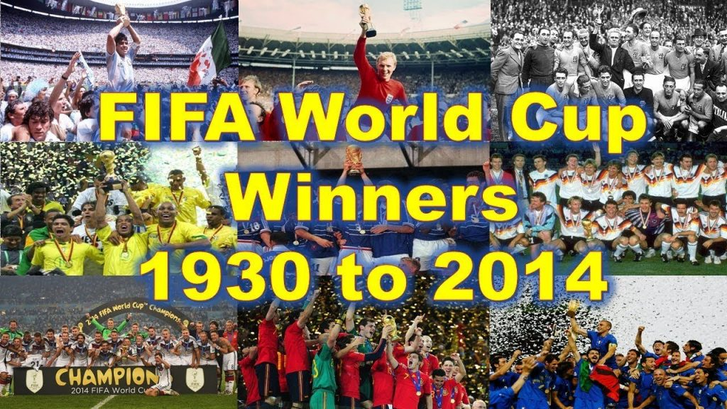 FIFA World Cup Final match winners, champions list, results & history all the time