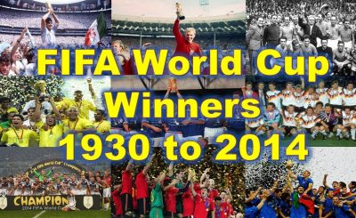 FIFA World Cup Final match winners all the time