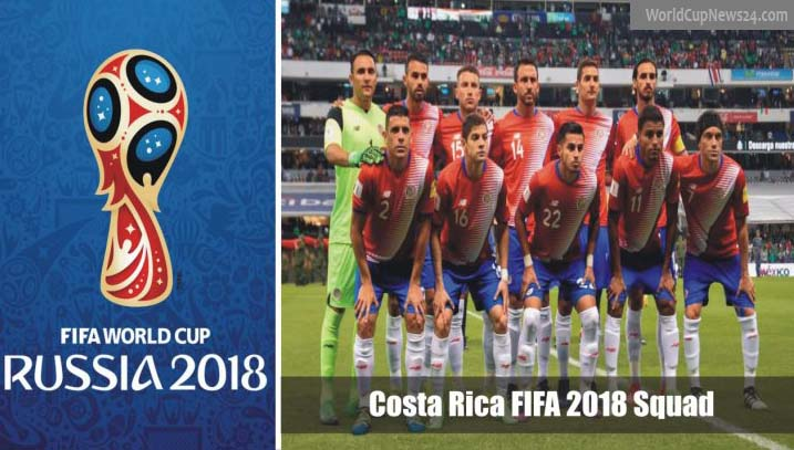 World Cup 2018 Costa Rica full Squad, players list & match info