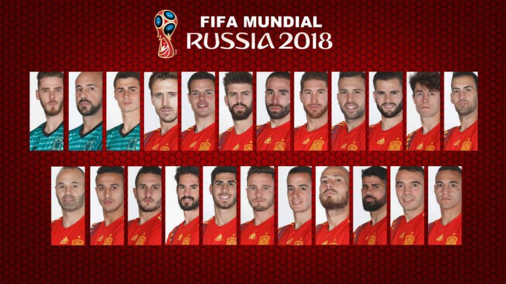 Final Squad for 2018 FIFA World Cup Spain team, player & match info