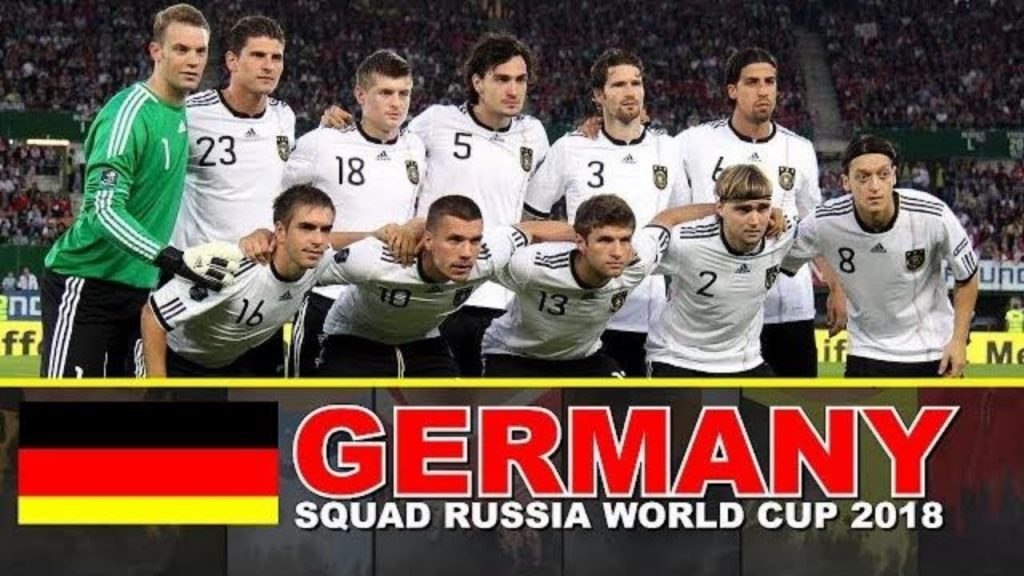 Germany final Squad for FIFA World Cup 2018, Schedule & history