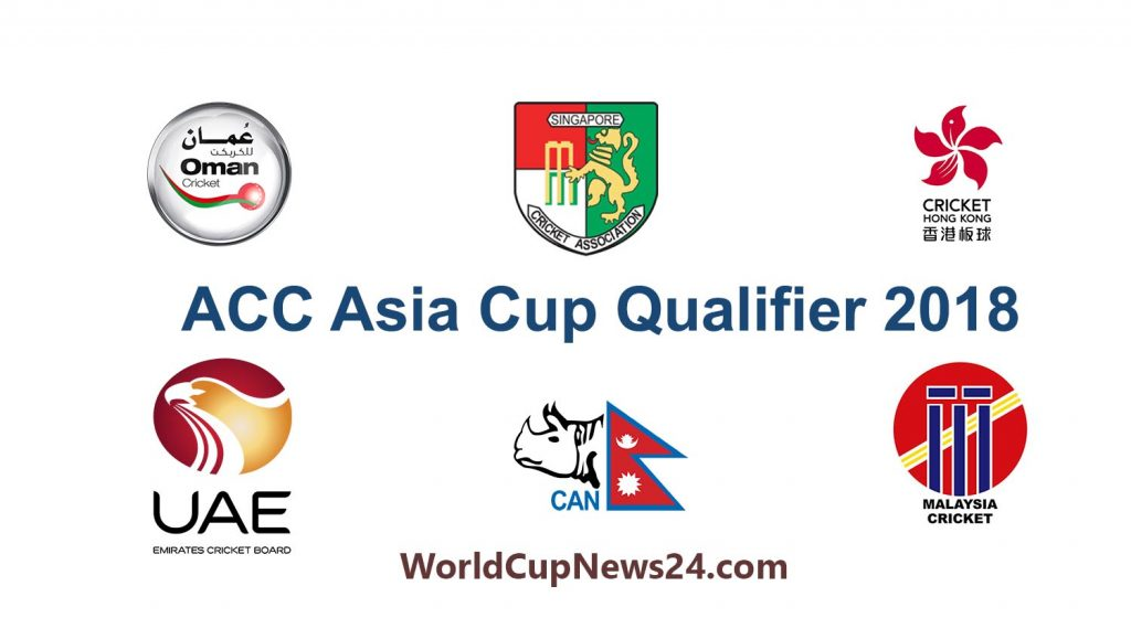 Asia Cup 2018 Qualifier Schedule, Live Stream, TV channels